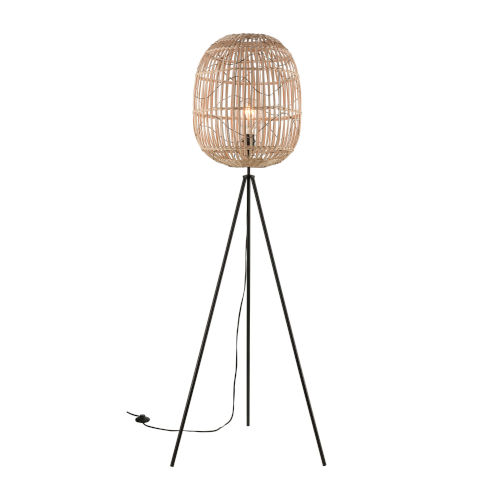 Cold Spring Black Oil Rubbed Bronze Natural One-Light Floor Lamp