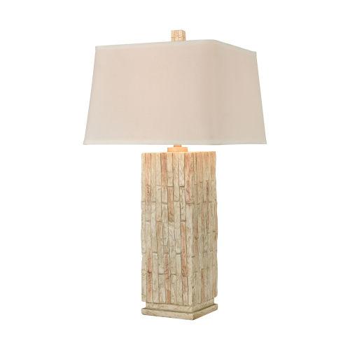 Chaseholme White Southwest Stone One-Light Table Lamp