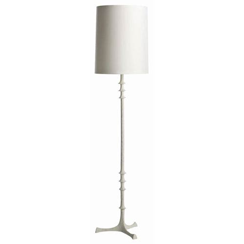 Arteriors Home Nathan White One Light Gesso Floor Lamp