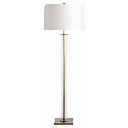 Norman Vintage Brass One Light Floor Lamp