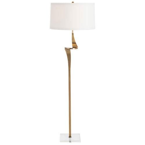 Roosevelt Antique Brass One-Light Floor Lamp