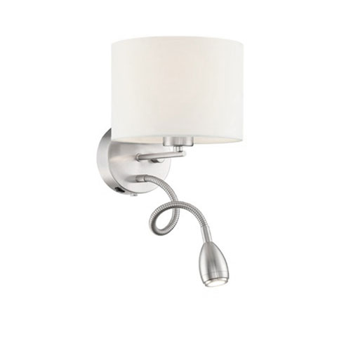 Grannus Matte Nickel LED Wall Lamp