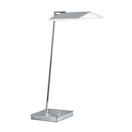 Satin Nickel and Chrome Integrated LED Table Lamp