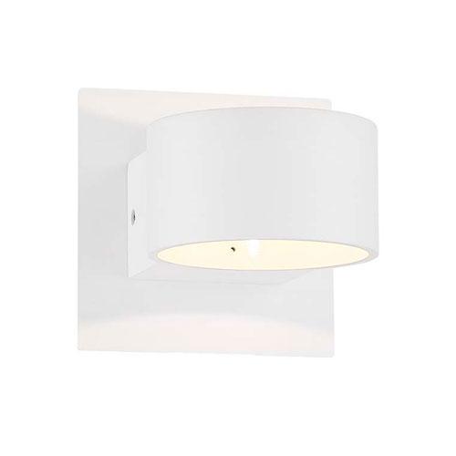 Lacapo Matte White LED Wall Sconce