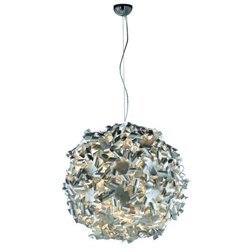 Pinwheel Aluminum Nine-Light Pendant