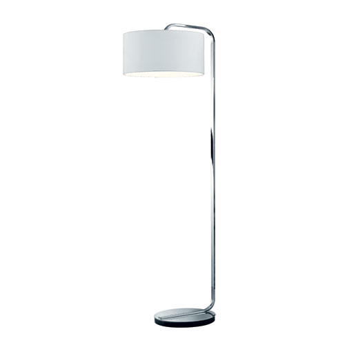 Cannes Matte Nickel One-Light Floor Lamp