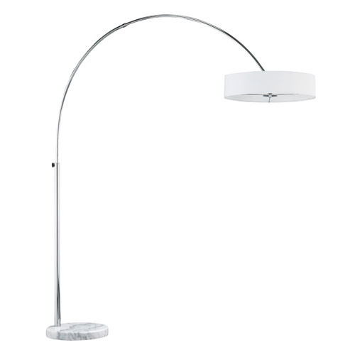 Magdeburg White Three-Light Floor Lamp