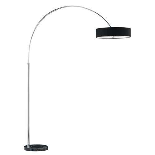 Magdeburg Black Three-Light Floor Lamp