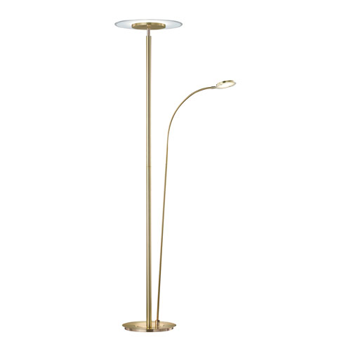 Tampa Matte Brass LED Torchiere