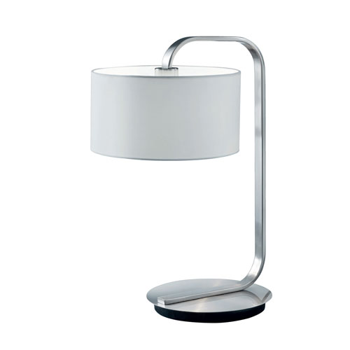 Arnsberg Cannes Matte Nickel One-Light Table Lamp
