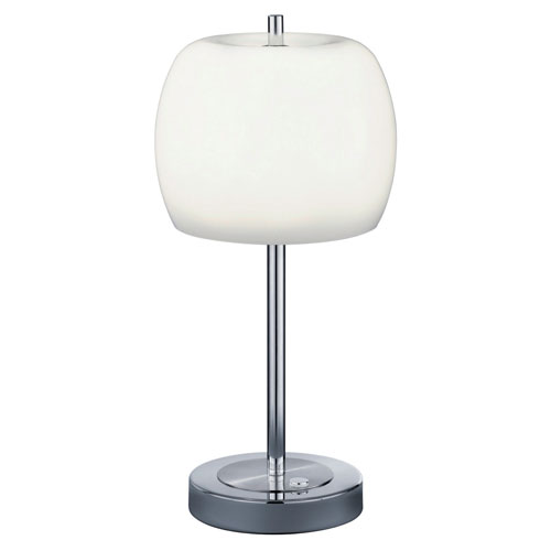 Pear Matte Nickel 8-Inch LED Table Lamp