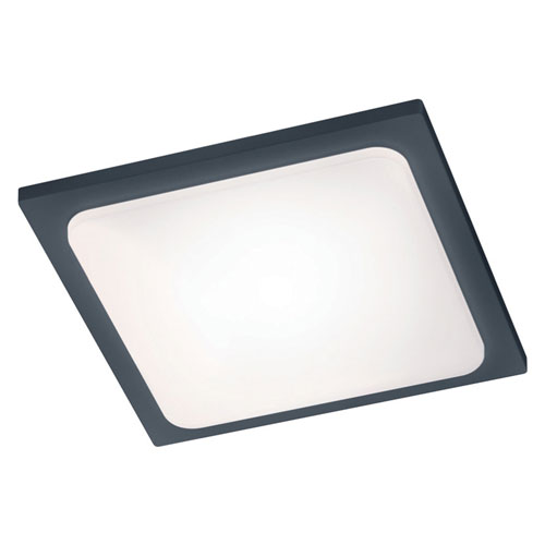 Trave Dark Grey LED Outdoor Ceiling Light
