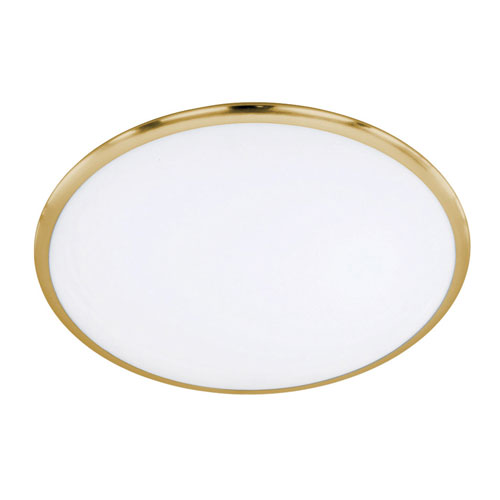 Seattle Matte Brass 12-Inch LED Flush Mount