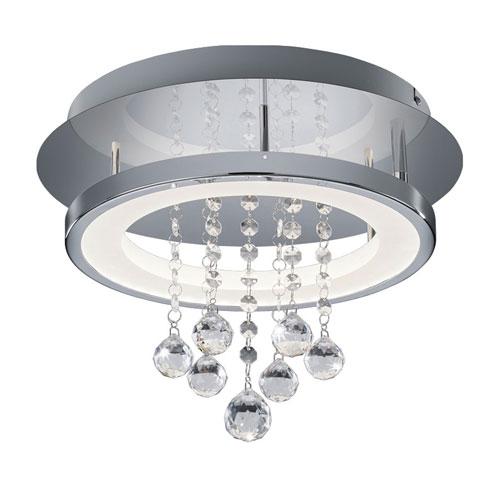 Dorian Chrome 14-Inch LED Flush Mount