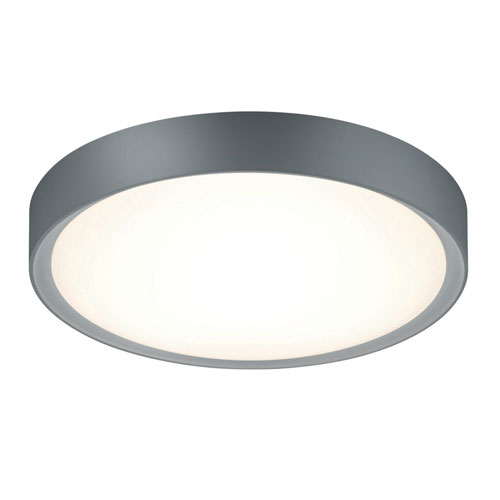 Clarimo Titanium and Light Grey LED Flush Mount