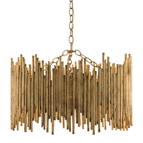 Prescott Gold Leaf Three-Light Pendant