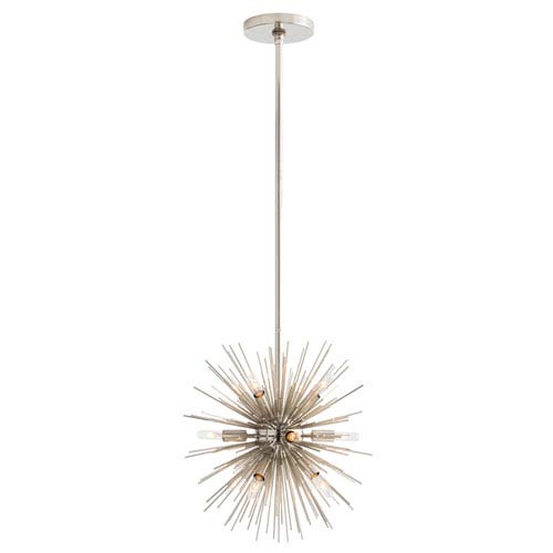 Mini Zanadoo Polished Nickel Twelve-Light Pendant