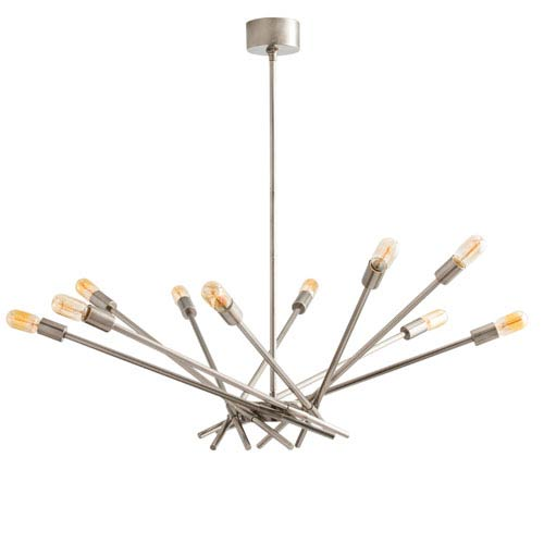 Webster Vintage Silver Ten-Light Chandelier
