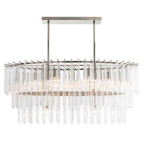 Nessa Clear Eight-Light Chandelier