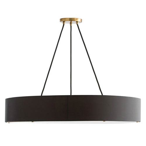 Marsha Matte Black Six-Light Fixed Chandelier