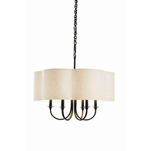Rittenhouse Bronze Six Light Chandelier