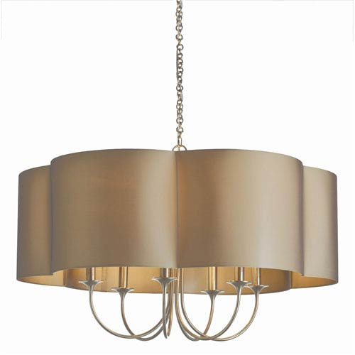Arteriors Home Rittenhouse Antique Silver Six Light Large Chandelier