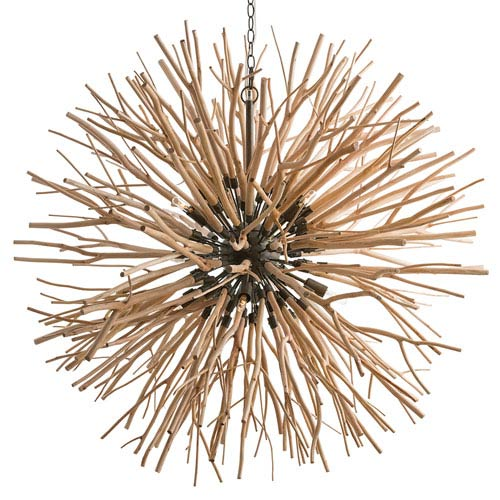 Arteriors Home Finch Natural Eight-Light Pendant