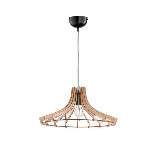 Wood 24-Inch One-Light Pendant