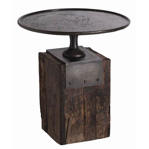 Arteriors Home Anvil Cast Iron and Reclaimed Wood Side Table