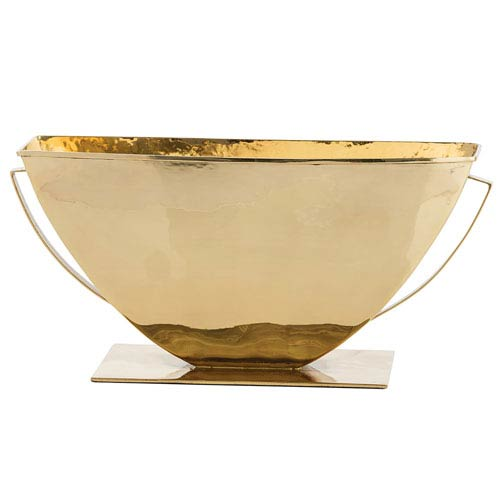 Alexandros Polished Brass Centerpiece