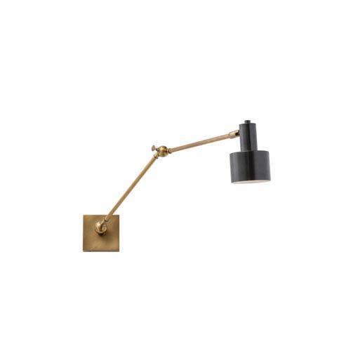 Arteriors Home Loki Antique Brass 25-Inch One-Light Arm Swing