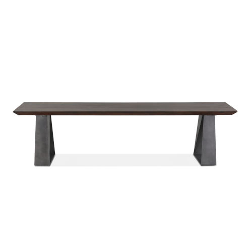 Augusta Dark Brown and Gray Dining Bench