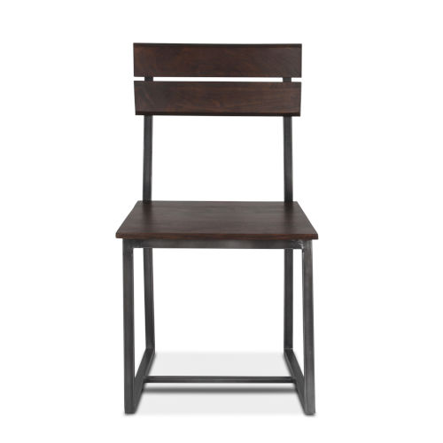 Augusta Dark Brown and Gray Dining Chair, Set of 2