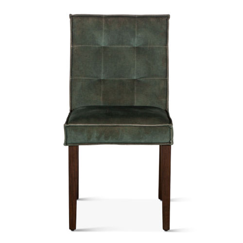 Avery Dark Green and Brown Dining Chair, Set of 2