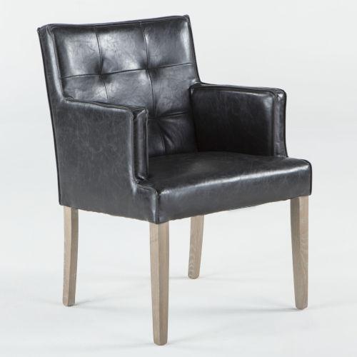 Avery Napoleon Black Armchair