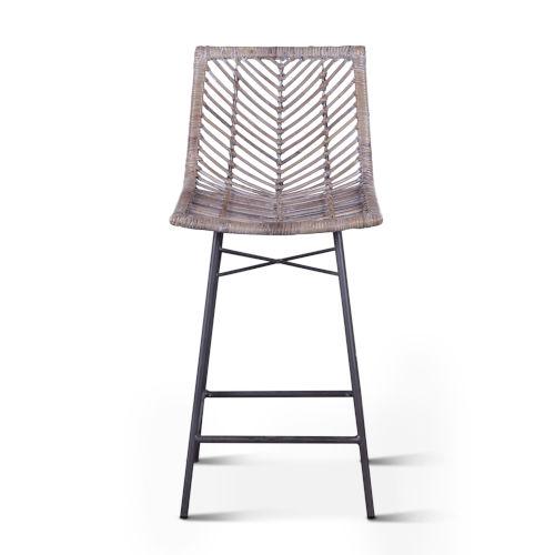 Bali Gray Whitewash Counter Chair, Set of 2