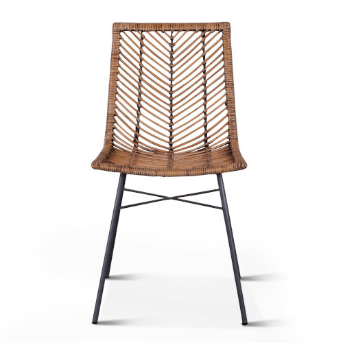 Bali Brown Honey Washed Dining Chair, Set of 2