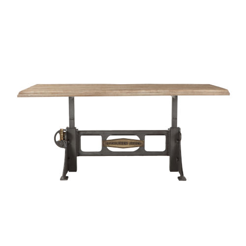 Bethlehem Antique Oak and Gun Metal 72-Inch Dining Table
