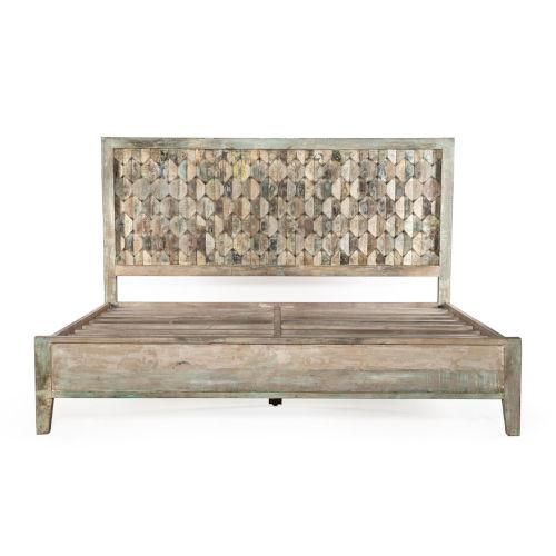 Cordoba Vintage Teal Queen Bed