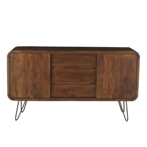 Grandby Walnut and Antique Zinc Sideboard