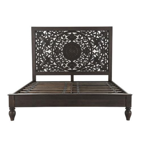 Haveli Brown King Bed