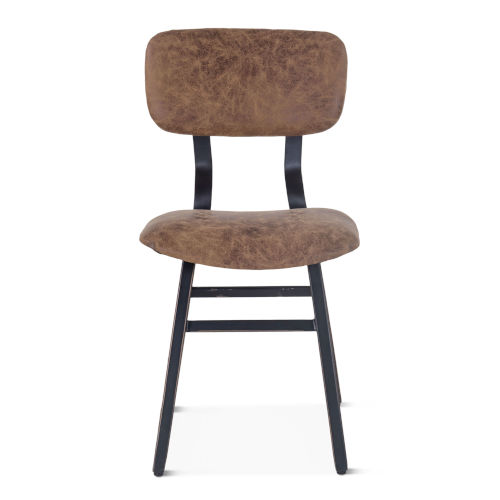 Amici Bomber Jacket and Rubbed Zinc Dining Chair, Set of 2