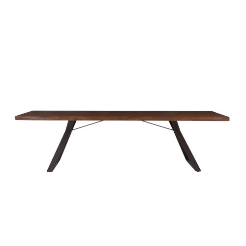 Nottingham Acacia Wood and Iron Dining Table