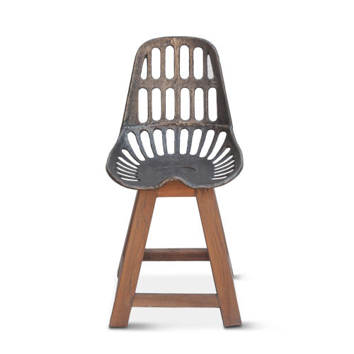 Sterling Natural Patina Tractor Dining Chair