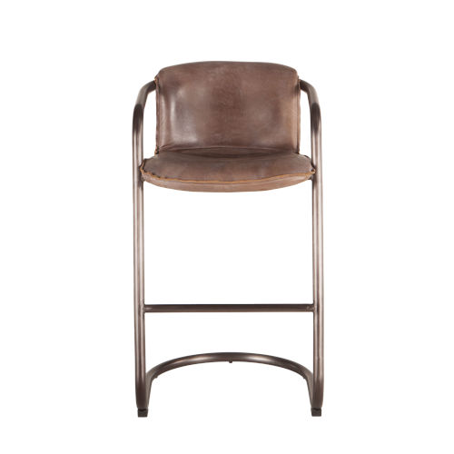 Chiavari Distressed and Brushed Nickel Bar Chair, Set of Two