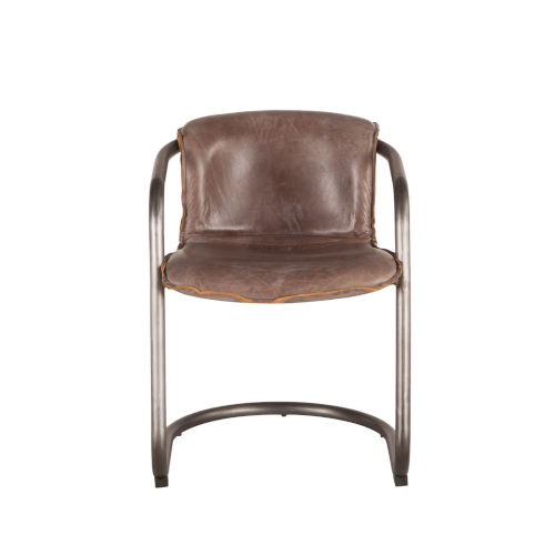Chiavari Leather and Steel Dining Chair
