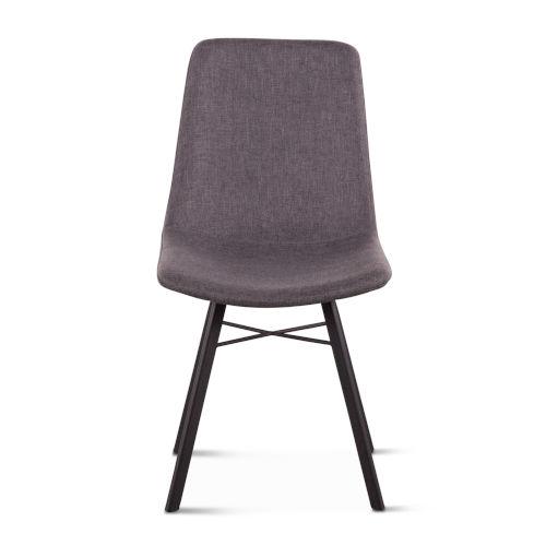 Posey Matte Gunmetal Side Chair, Set of Two