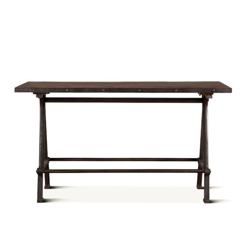 Paxton Natural and Gray Zinc Dining Table