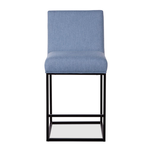 Rebel Denim and Antique Zinc Counter Chair, Set of Two