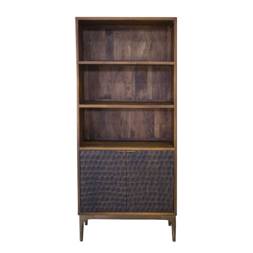 Vallarta Two Tone and Bronze Mango Wood Bookshelf